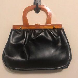 Beautiful vintage handbag with plastic handles